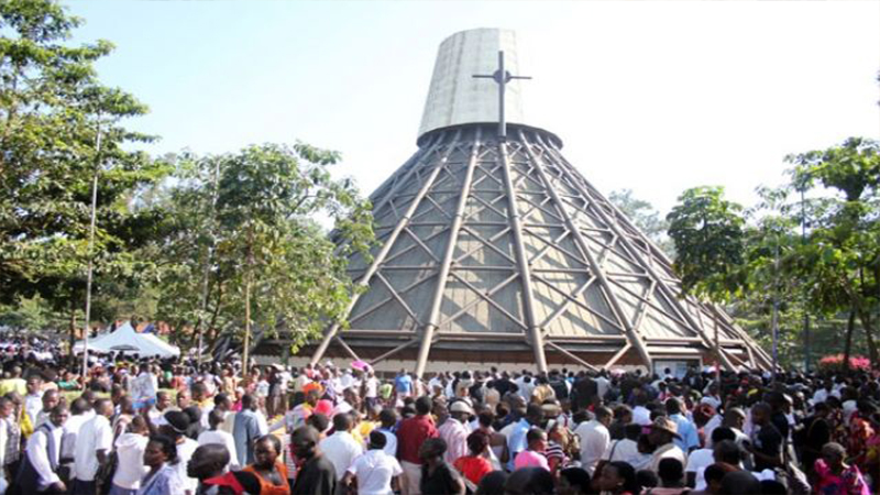 History Of Namugongo Martyrs Shrine, the towering pinnacle is quite catchy and as you draw closer to the basilica you will be washed with a special feeling Catholic Parish Namugongo