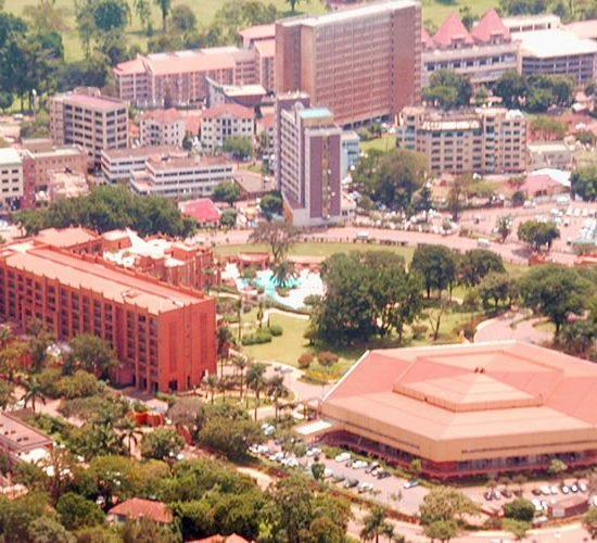 he Kabaka`s of Buganda have a ceremonial palace in which a new modern house- `Tweekobe' was built. Situated on a hill overlooking Kampala, this palace is enclosed in a ring fence covering close to a thousand acres
