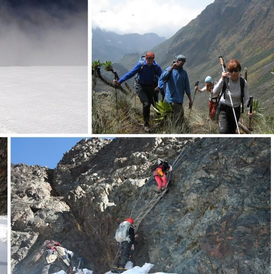11 days mountaineering safari will to Rwezonri mountains national park for mountain trekking up to the Margherita 5109 m the highest peak of Rwenzori mountains
